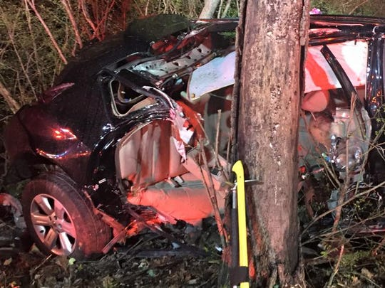 This car was found April 9 after crashing off Tyler Run Road in York Township.