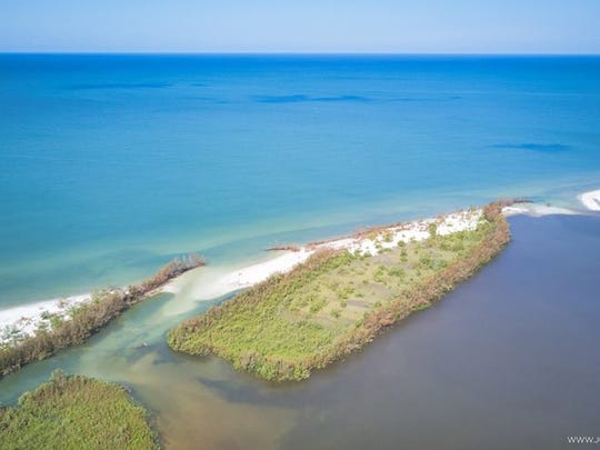 Hurricane Irma, which made landfall on Marco Island on Sept. 10, 2017, reshaped Tigertail Beach, creating an inlet from the lagoon to the Gulf of Mexico.