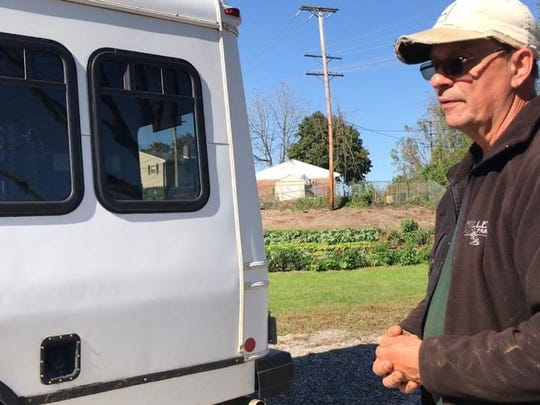 Bruce Manns, York Fresh Food Farms manager, stands