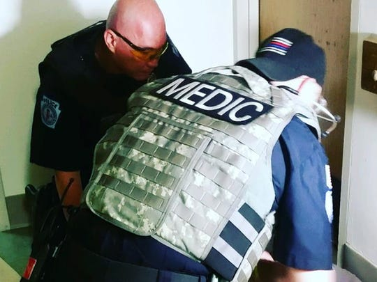 Local law enforcement agencies, EMS and Summit Health employees participated in an active shooter drill Thursday, May 24 at Chambersburg Hospital.