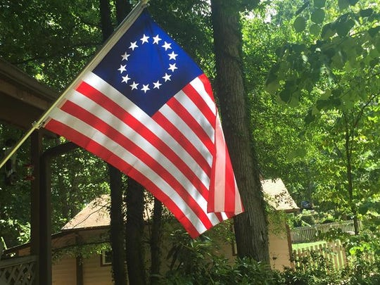 """Betsy Ross"" flag flown in Easley"