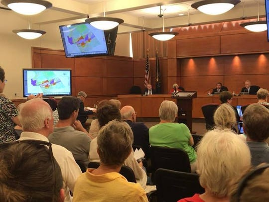 Residents showed up for a public hearing, in which none of them supported the idea of a casino located at the York Galleria Mall. (Jana Benscoter)