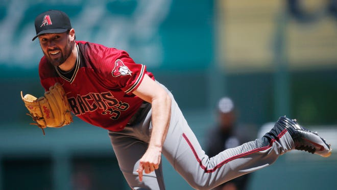 Robbie Ray (Tigers in 2014) is 2-2 with a 4.46 ERA in eight starts with the Arizona Diamondbacks.