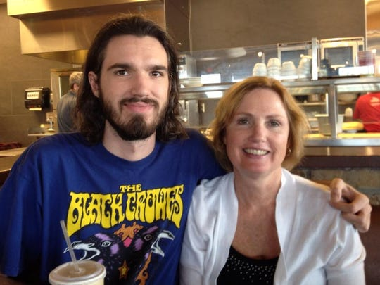 Zach Evans and his mom Stacy Warren