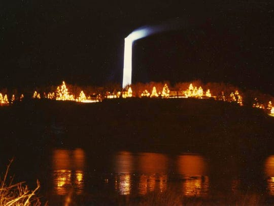 Christmas lights blazed away on the Anaconda Co. grounds