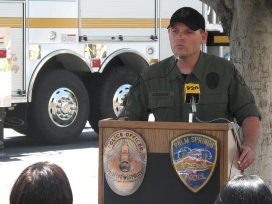 Sgt. William Hutchinson, seen in this file photo, said in a video posted to the Palm Springs Police Department's Facebook that the department was reviewing the video.