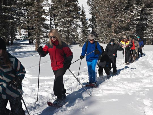 Head out on a Snowshoe Tour Under the Night Sky this weekend.