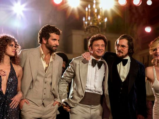 "The Academy Award-nominated film ""American Hustle"" stars Amy Adams, Bradley Cooper, Jeremy Renner, Christian Bale and Jennifer Lawrence."