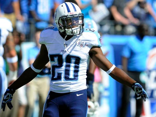 Titans cornerback Alterraun Verner prepares for a game against the Chargers on Sept. 22, 2013.