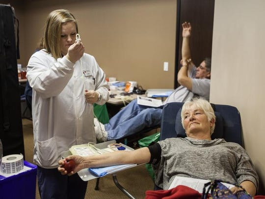 A blood drive is held at the Dixie Direct offices in St. George.