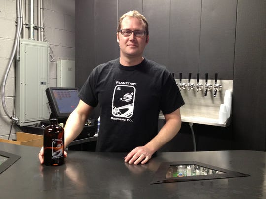 Andrew Groves, owner of Planetary Brewing Company in Greenwood.