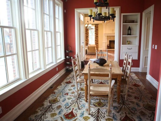 A rear sitting, or informal dining area in the back of the first floor of the Anchorage Place home. Jan. 7, 2014