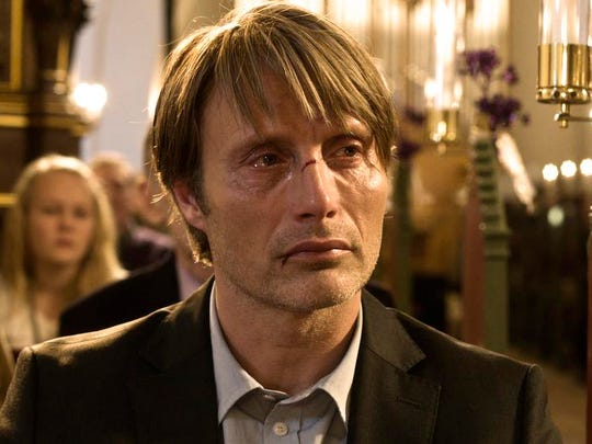 "Mads Mikkelson, pictured here in a a scene from ""The Hunt,"" stars in the riveting Danish Western, ""The Salvation."""