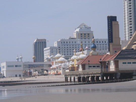 This April 8, 2013 photo shows the Atlantic City N.J. beachfront.