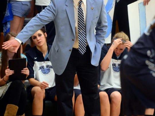Gregg Dart coaches the Great Falls High girls' basketball