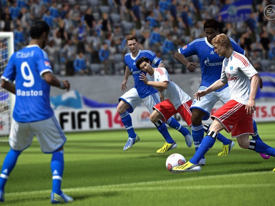 """FIFA 14 EA Sports' take on """"the beautiful game"""" makes its annual visit to consoles with a new animation system and improved shot physics. With the November launches of the Xbox One and PlayStation 4, 'FIFA 14' will also be the last installment of the series where the Xbox 360 and PS3 are the focus."""