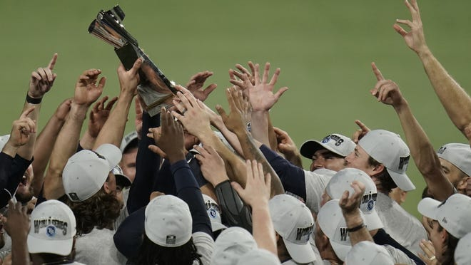 The Tampa Bay Rays clinched the American League championship trophy with their victory over the Houston Astros in Game 7 on Saturday.