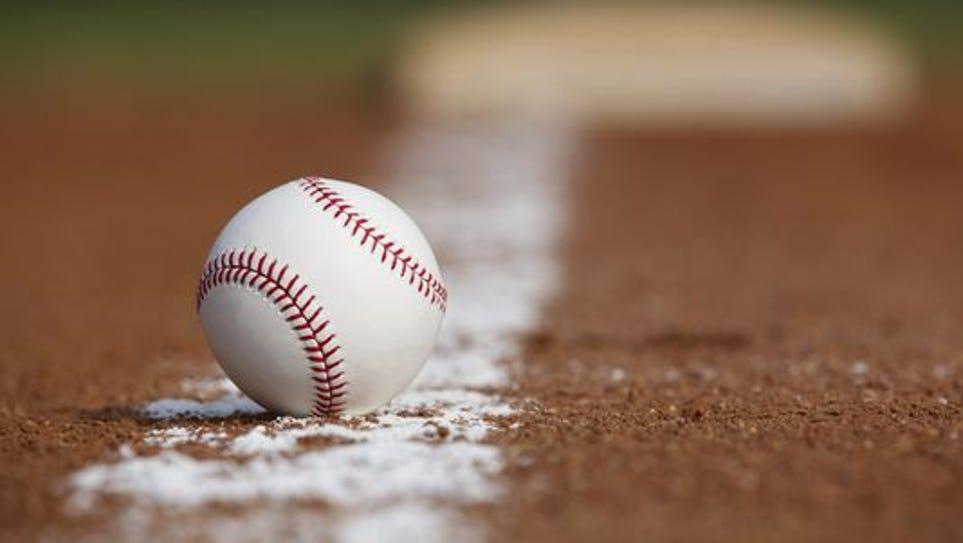 Baseball on chalk