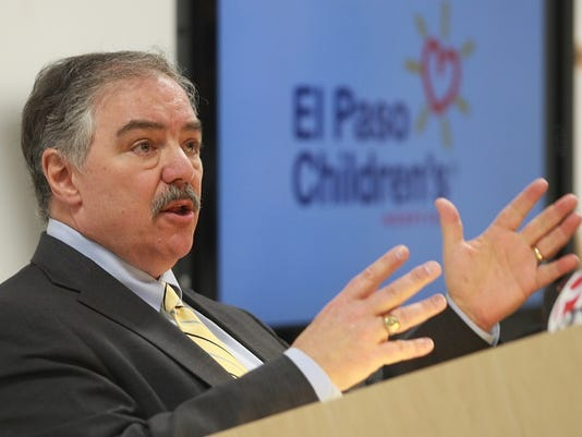 El Paso Children's Hospital CEO Mark Herbers talks about the hospital's filing for Chapter 11 bankruptcy protection during a press conference Tuesday at the hospital.