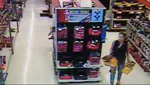 A woman was captured on camera stealing two Dewalt drills from a Sears Store in Fort Myers