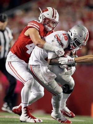 Badgers linebacker Jack Cichy was named Big Ten defensive player of the week.