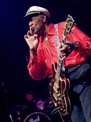 Chuck Berry, shown here in 2011, was 82 when he played