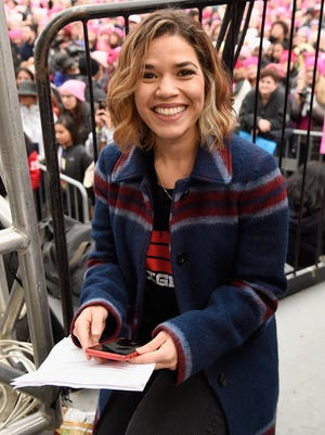 America Ferrer, seen during January's Women's March on Washington, says she was sexually assaulted when she was nine.