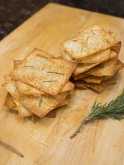 Rosemary-parmesan Crackers With Black Pepper.