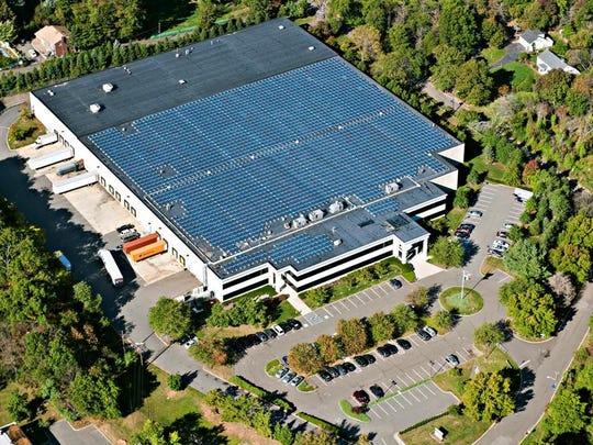 An aerial view of Colavita's 187,000 square-foot U.S. headquarters facility in Edison.