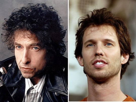 Bob Dylan and Jon Heder.
