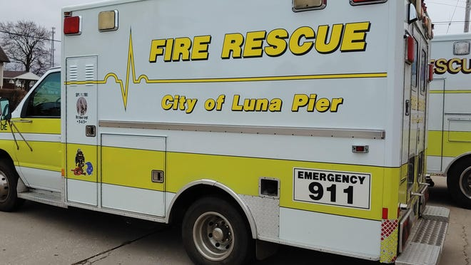 The Luna Pier Volunteer Fire Department rescue vehicle is one of several on the department that received two federal grants recently for replacing equipment and for recruitment and retention of firefighters. Other vehicles are shown below.