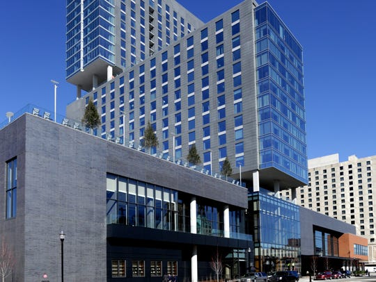 The new Omni Hotel celebrated its grand opening today