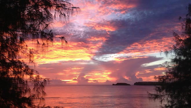 Agat sunset: Christina Hamza captured the sunset on camera in May 2014 while on an evening run in Agat. Courtesy Christina Hamza