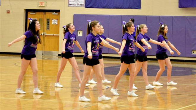 Northern High School cheerleaders dance in support of the annual Miranda's Smile Shoot-a-Thon on Feb. 6. This year's total of $10,023 surpassed the previous record of $7,175.