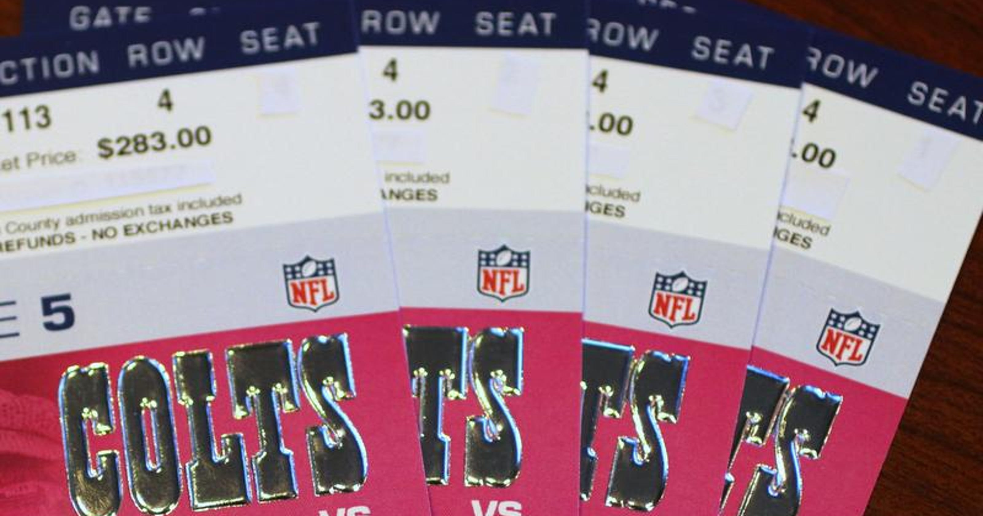 Ticket prices for Colts-Manning game have dipped since the
