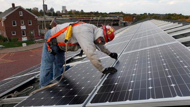 Solar panel installation will be discussed at upcoming meeting in Greece.