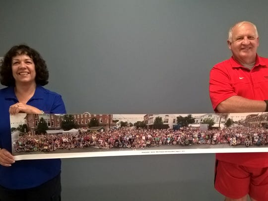 Dena Baer and Darrell Miller show off one of the more