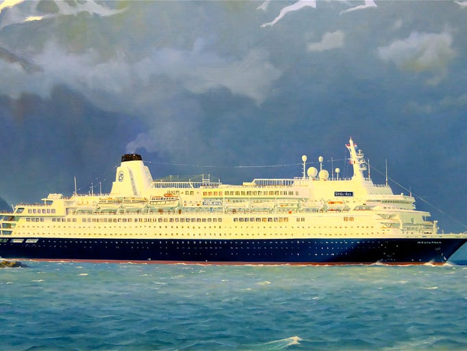 The second Westerdam, also shown in a Stephen Card