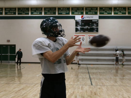 Adams-Friendship High School football senior Joe  Duty
