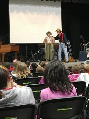 Ed and Kathryn Ross of Pageant Wagon Productions present the Clementine Jones Story Concerts at Cumberland Christian School in Vineland.