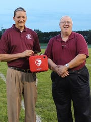 A new defibrillator was recently presented to the Loyal