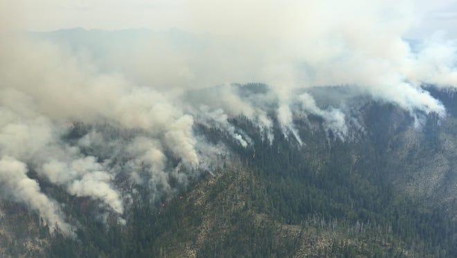 Aerial photo of the Buckskin fire taken on June 25, 2015.