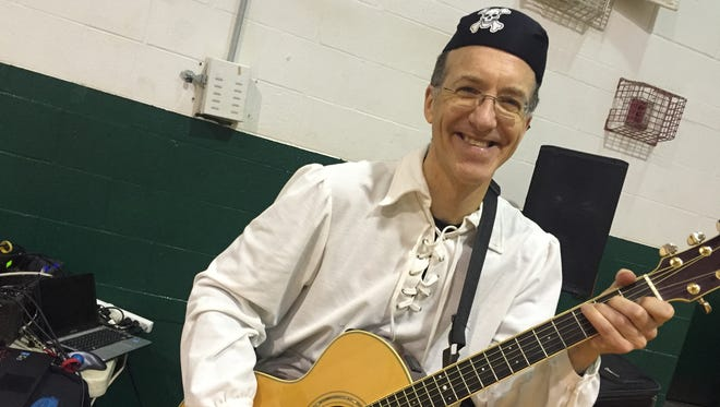 Johnny Only, 53, of Endwell, hosts a musical playdate for preschool children at Highland Park every Wednesday.