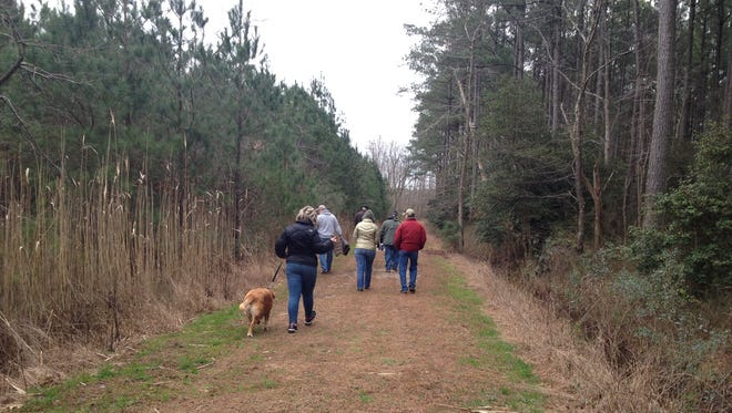 Visitors to Janes Island State Park in Crisfield enjoy a First Day Hike on New Year's Day