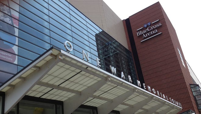 Blue Cross Arena at the Community War Memorial in downtown Rochester.