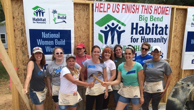 Women from the Tallahassee Democrat volunteered with Habitat for Humanity during National Women Build Week.