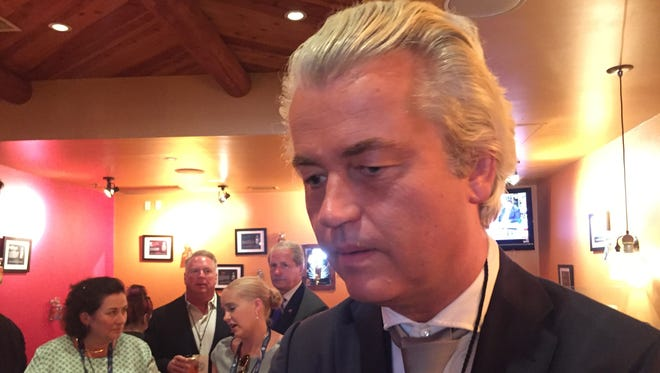 Controversial Dutch lawmaker Geert Wilders was among the 151 guests of Tennessee's delegation attending the Republican National Convention. He was recently convicted on a hate speech charge in the Netherlands.