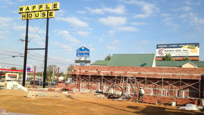 Construction continues at 2314 N. Highland Ave. on a new Waffle House.