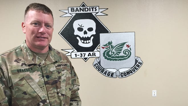 Lt. Col. Ken Braeger has led the 1st Battalion, 37th Armored Regiment for the past two years, including standing it up from scratch. He will relinquish command on Friday.