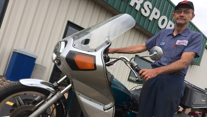 Ron Zahrt has ridden his 1975 Honda Gold Wing more than a million miles. The odometer rolled over to a million on July 29.